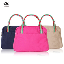 Recyclable durable canvas women tote handbag made in Guangzhou