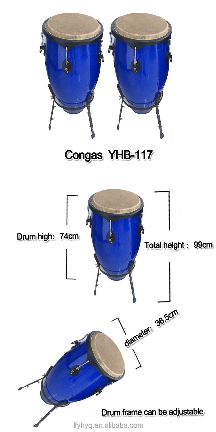 Blue color percussion musical instrument conga drum, drum conga