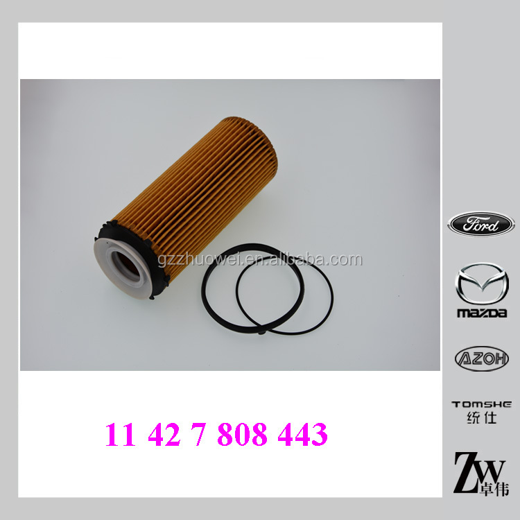 Auto parts Car Engine Oil filter Long catrige11 42 7 808 443,11427808443 for BMW Group 3/5/7 E70 E71 E90 E93 F01 F11