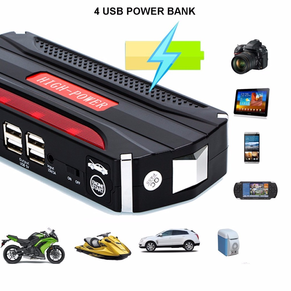 Multi-Function Mini Portable Car Jump Starter 68800 mAh Start 12V Car Engine Emergency Battery Power Bank Fast Charge