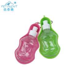 Colorful Plastic Pet water bottle with dog bowl tray