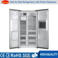 home Anti-finger stainless steel side by side refrigerator