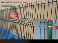 Hebei curved wire garden fence manufacturer/curved wire peach post garden fence