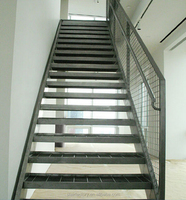 Outdoor metal staircase, outdoor stair railing design, galvanized stairs, Outdoor prefabricated steel stairsTS-290