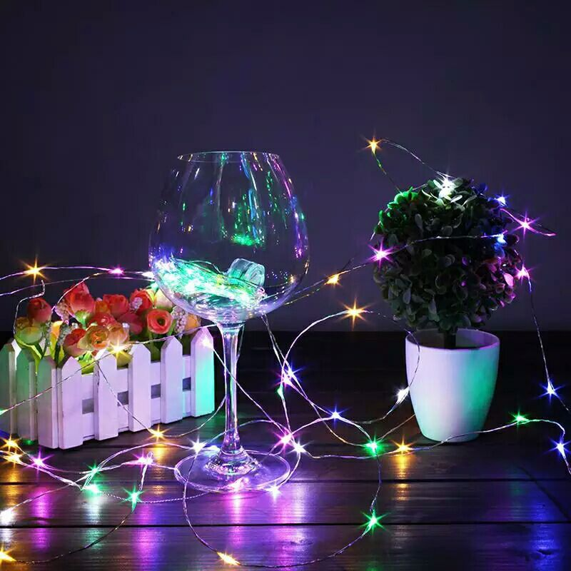 Factory sale led string lights fairy lights1M 2M 3M 4M 5M 6M 8M 10M Christmas holiday outdoor light