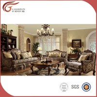 Wood carved living room furniture, classic living room furniture, high end classic living room furniture A24