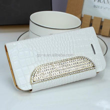 flip leather wallet crocodile style diamond card slots case for Samsung Galaxy S3 S4 Note2 Note3 cell phones cases accessories