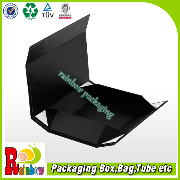 customized collapsible rigid paper box with magnetic closure