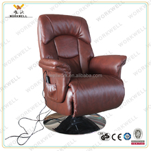 WorkWell luxry relax pu leather recliner massage chair with electric window lift motor Kw-r35