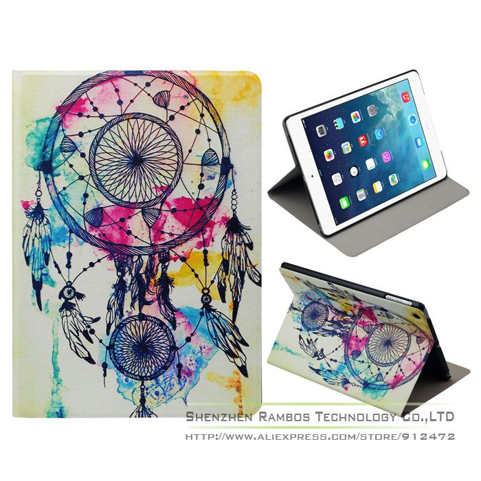 Factory Price Retro Dream Catcher Stand Leather Flip Case Cover Tablets e-Books Cases for iPad 2 3 4