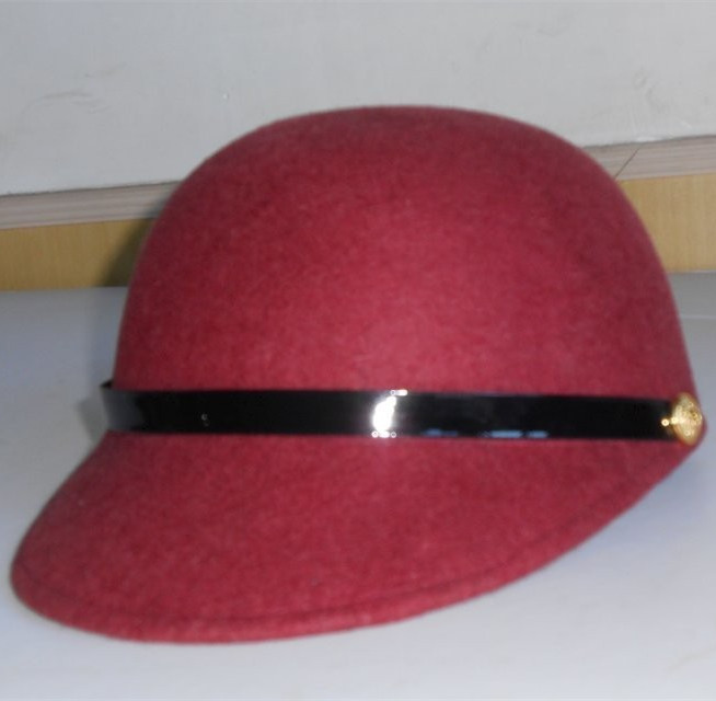 ladies beret wool felt hats visor hat military style