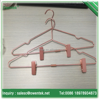 Copper color hanger wire metal hanger copper with clips