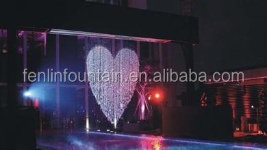Big events and wedding decoration graphic waterfall digital water curtain