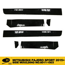 champ chromed car accessories BLACK side moulding for MITSUBISHI PAJERO SPORT 2015+