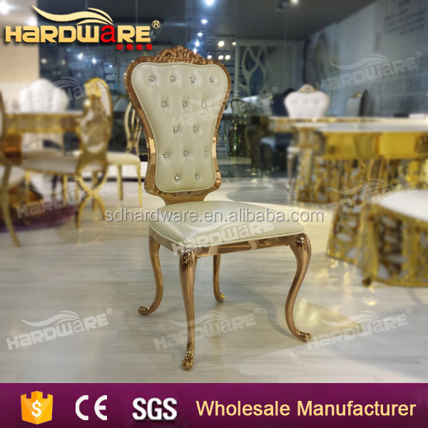 good quality luxury and royal white leather used dining chair