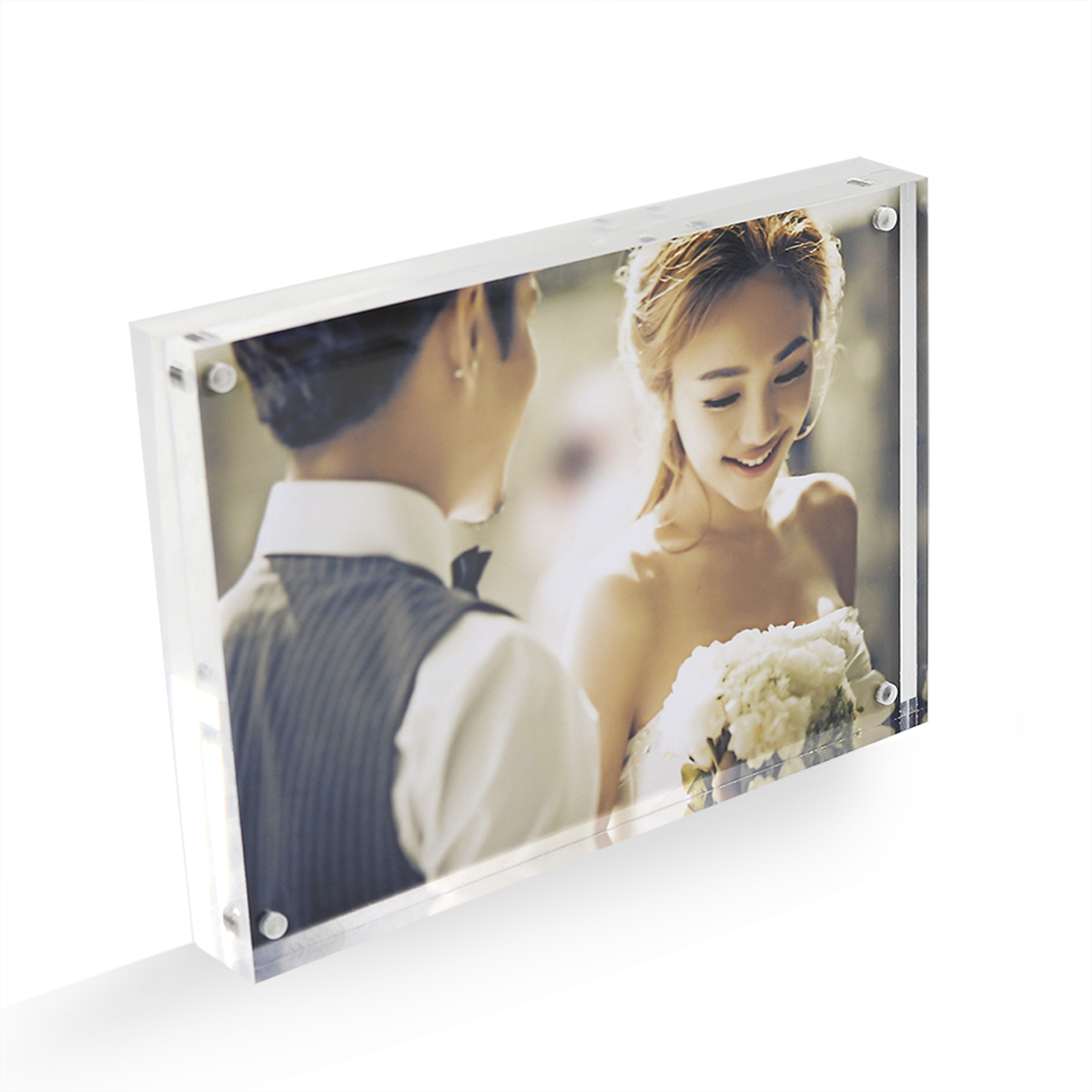 Desktop Double Sided Acrylic Photo Frame with Gift Box Package