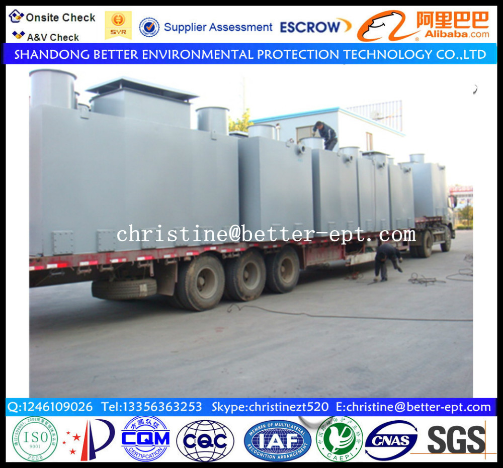 2015 Hot Sale with Low Price Good Quality MBR Containerized Wastewater/sewage Treatment Equipment