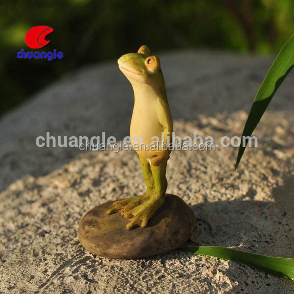 Garden Decoration, Resin Garden Frog, Clear Resin Figurine