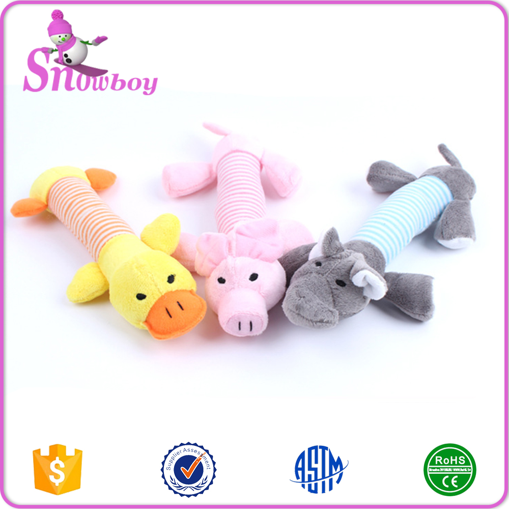 Dog Toys Pet Puppy Chew Squeaker Squeaky Plush Sound Dog Animal Toys