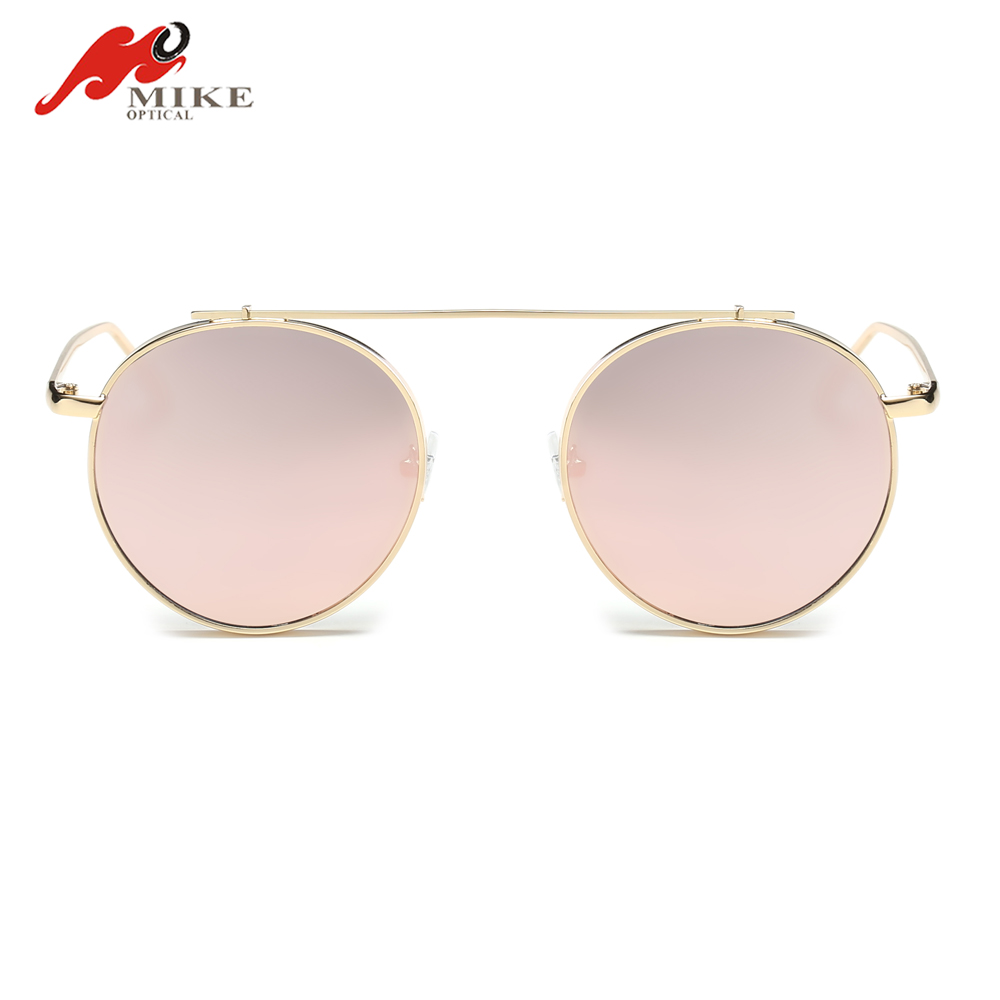 TOP sell polarized 2017 metal luxury brand round sunglasses