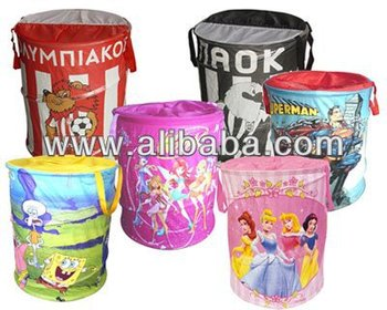 Pop Up Storage Bin made of Non-Woven Fabric