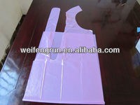 disposable apron color pink