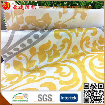 Polyester shantung patterned fabric for curtains