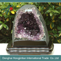 Wholesale crystal geodes amethyst geode cave for centerpiece
