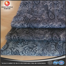 cotton yarn dyed double side Paisley print denim fabric