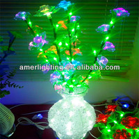 2014 New mini led table flower lamp vase light with cherry blossom Hight 80cm 100leds 6w 110v-220v