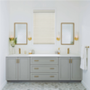 Used prefab modular bathroom furniture solid wood bathroom vanity