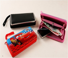 Popular Tin Zipper Money Case /Tin Phone Bag For Kids And Grownup