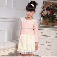 Many new children frocks designs high quality woolen baby girl winter clothes