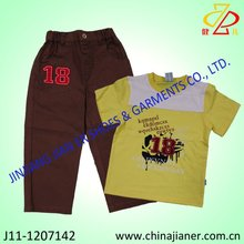 summer kid wear, child garment, boy set