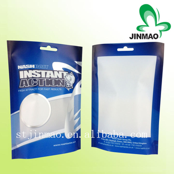 Stand Up Food aluminium Foil zipper Bags wtih Clear Window