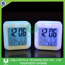 AAA Battery Power Desk LED Clock, LED Cube Clock, LED Light Digital Clock