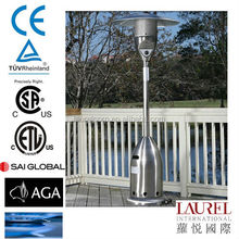 bullet shape reflector Stainless Steel gas patio Heater