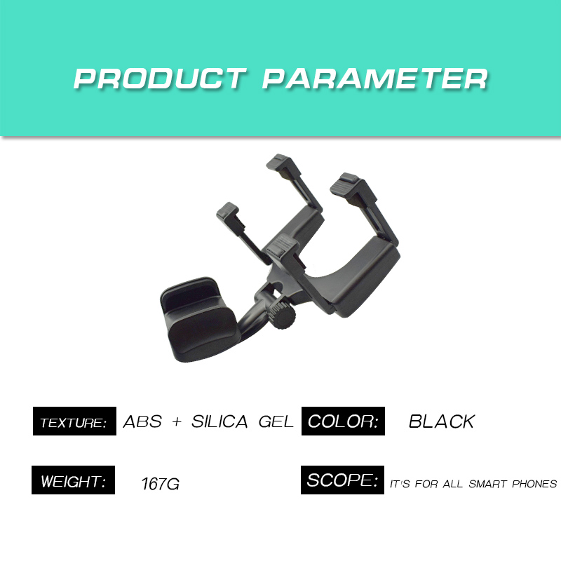 Grip clamp Car Mount Rearview Mirror Rotating Holder Stand holder for phones GPS