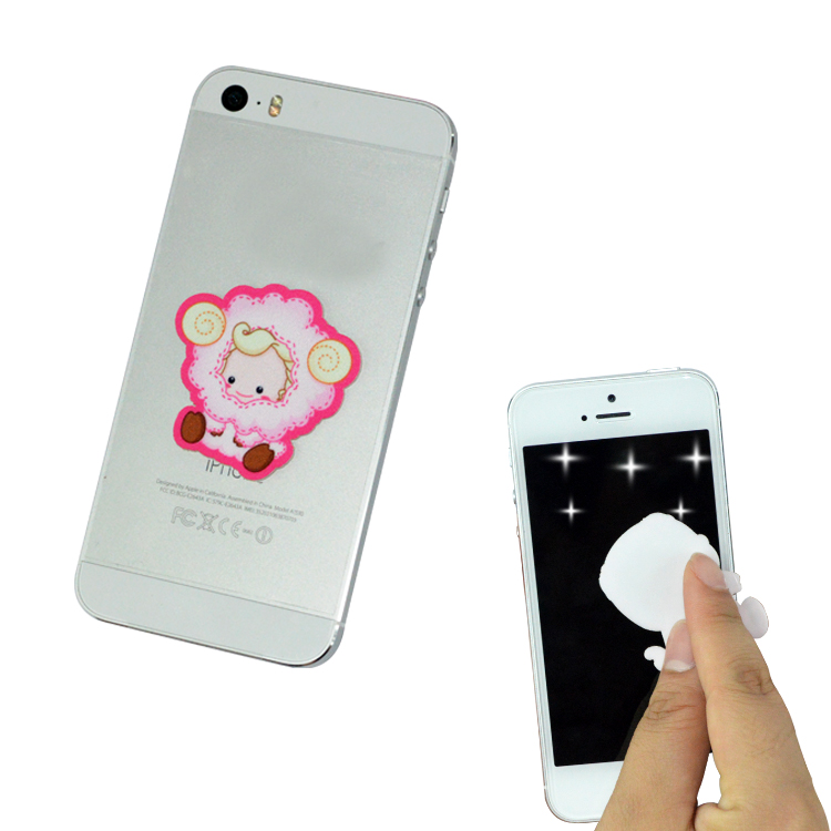 funny gift mobile phone silicon screen cleaner sticker
