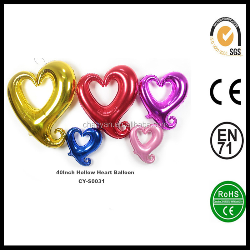 Wholesale inflatabale 40inch Heart Shape helium foil balloon,Wedding party foil balloon