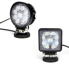 12V waterproof led round square car light 27w work led light for trucks,auto parts ,boats ect
