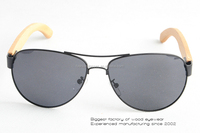 Stock bamboo uv400 polarized lens hot selling bicycle sun glasses