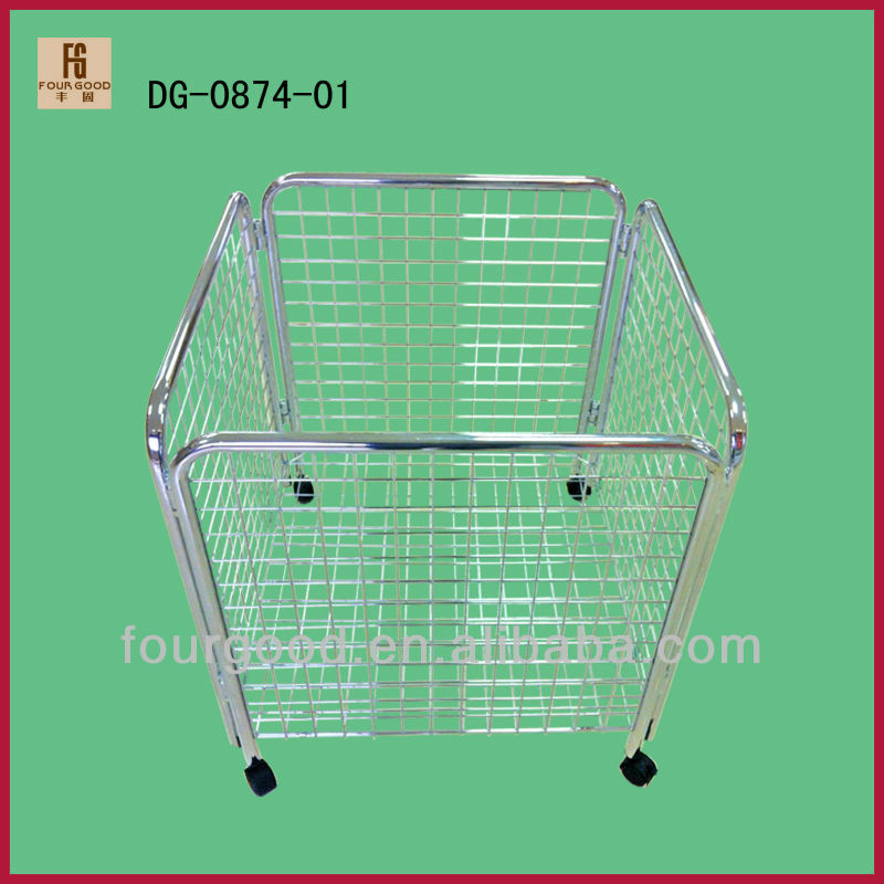 Chrome Wire shopping wire basket for supermarket goods storage and display
