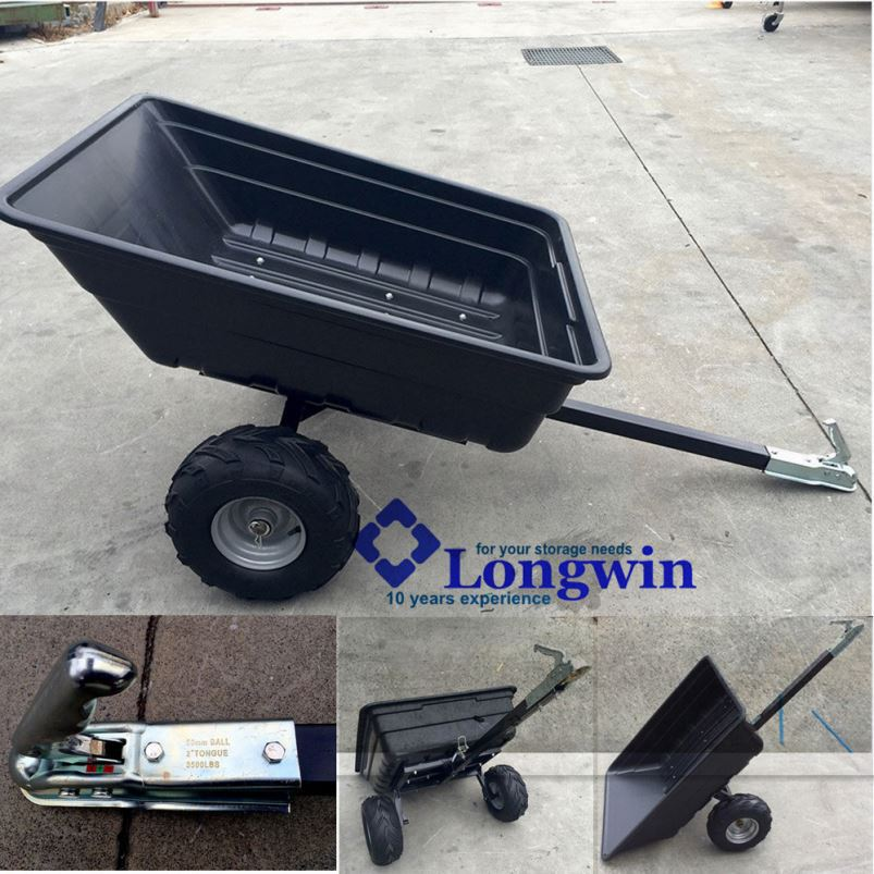 tipping inline snowmobile trailer