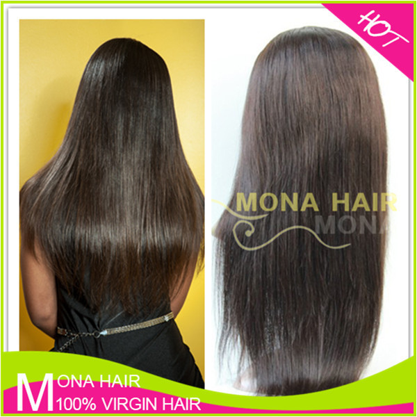 Easy to wear human hair full lace wig