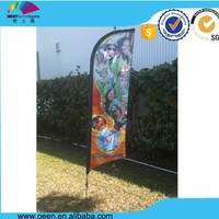 Advertising Usage and Fiberglass Flagpole Material Polyester flag sublimation