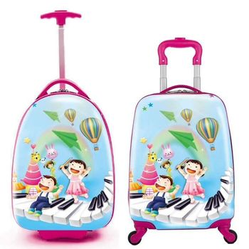 Carry On Hard Shell Kids Travel Rolling Luggage Spinner Trolley Suitcase