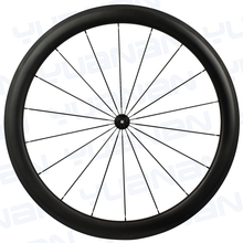 Powerway R51 carbon hubs 18/21 holes, 25mm width tubular carbon wheels, front & rear700c road bicycle 50mm carbon wheelset