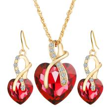 2019 new fashion jewelry,gold plated earring and pendant necklace wedding bridal jewelry set