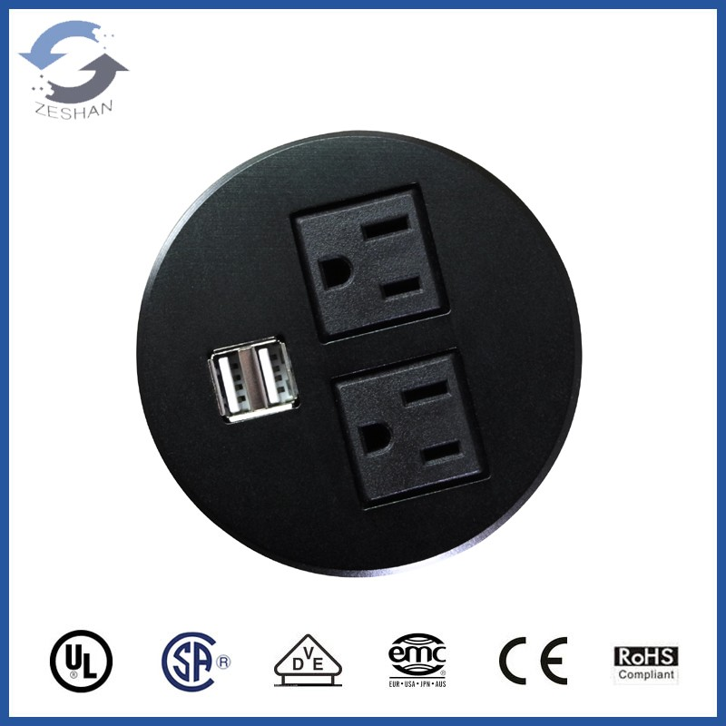 New ZSO Round Desk Mini Table Socket